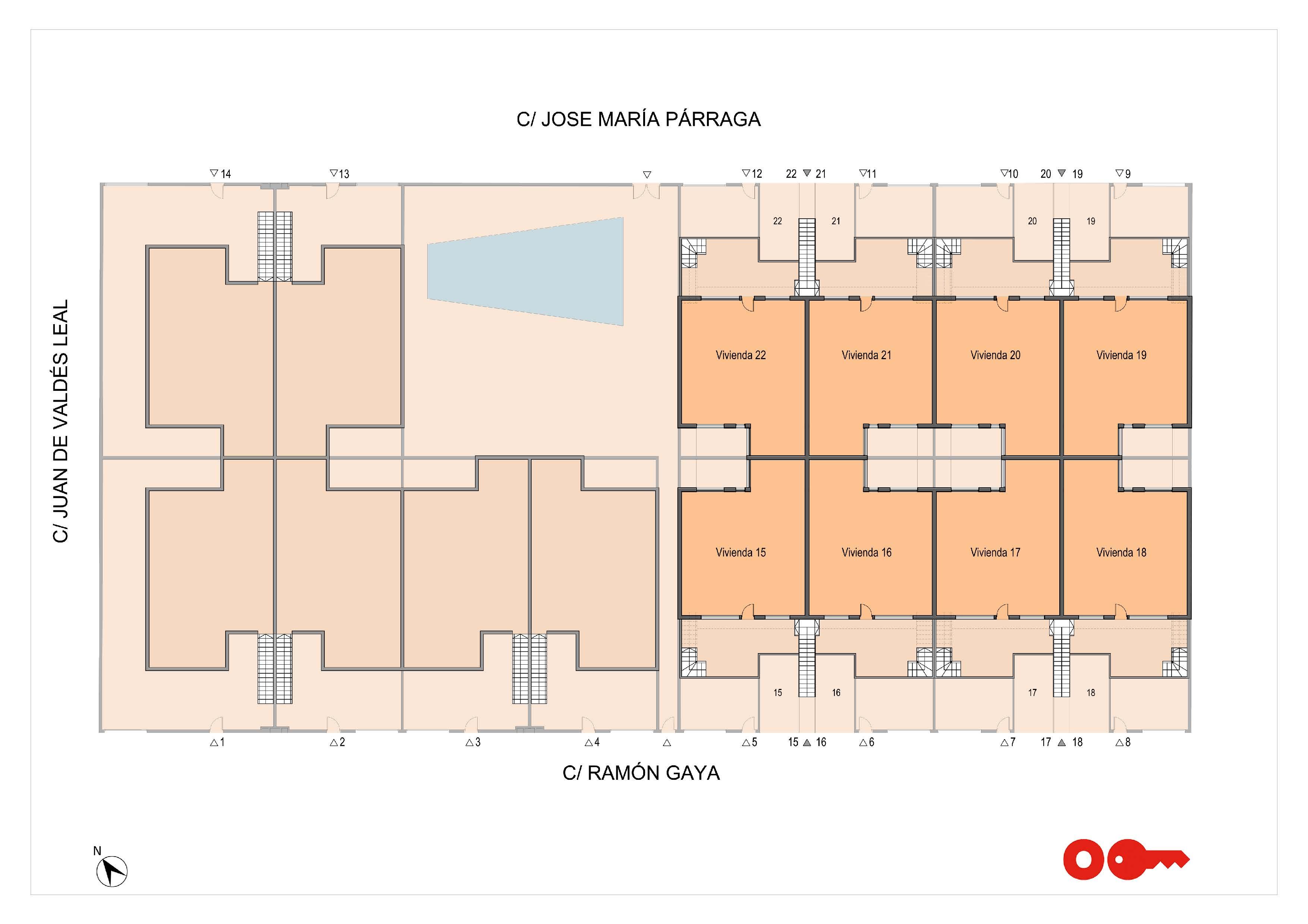 Plan de la villa Paradise à San Pedro Del Pinatar