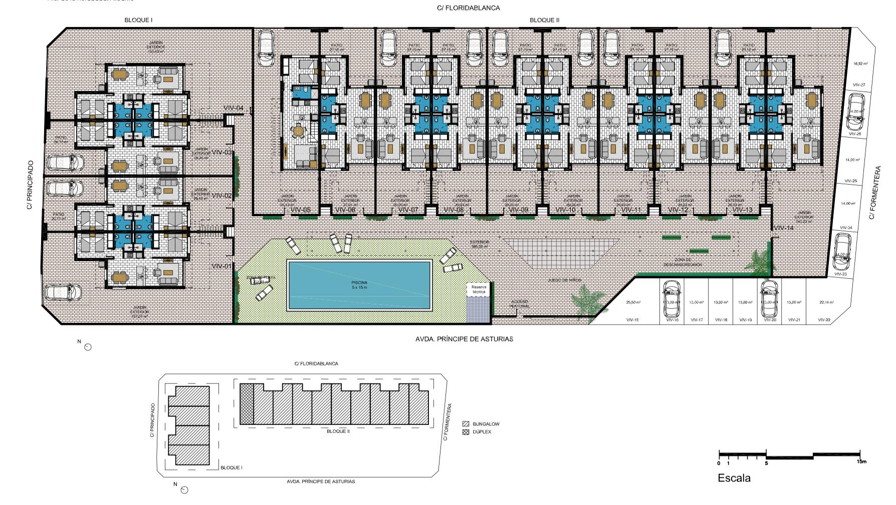 Plan général - Appartement Rambla Beach rez-de-chaussée