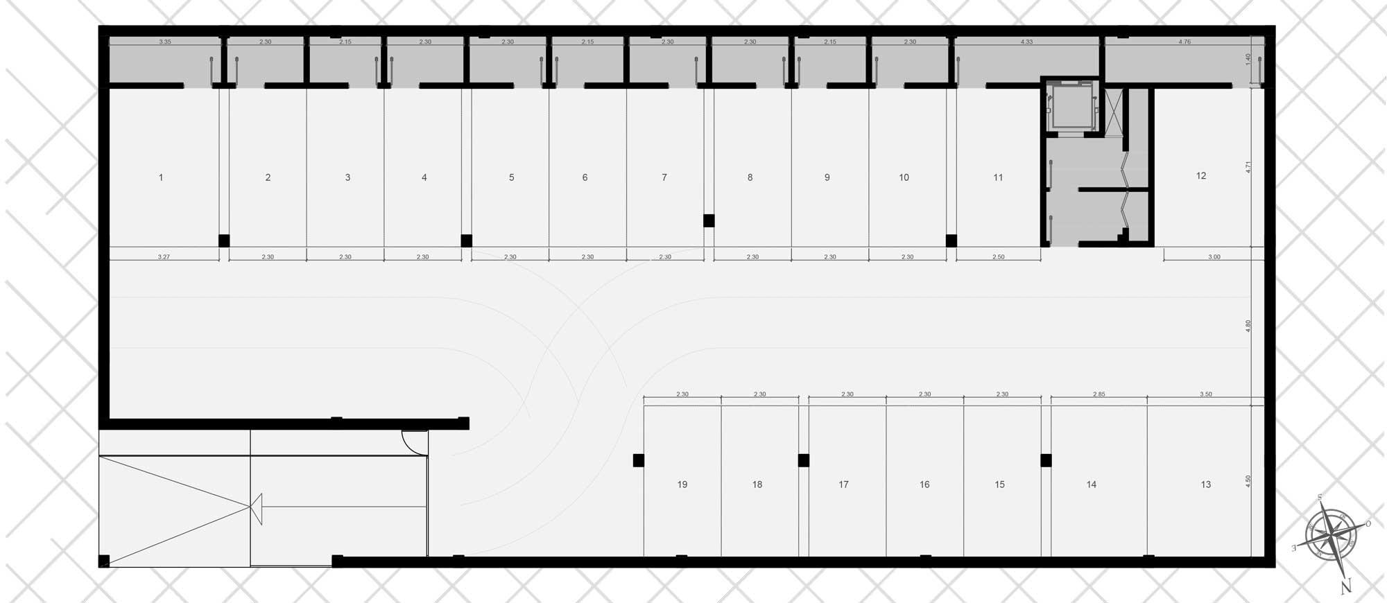Plan de l'appartement Torre Azul 1-2