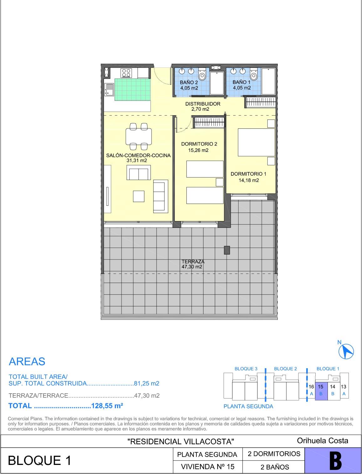 Appartement Costa Club à Villamartin (Plan 1)